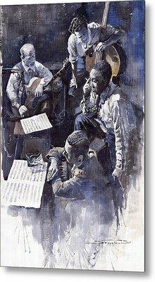 Jazz Parker Tristano Bauer Safransky Rca Studio Ny 1949 Metal Print by Yuriy  Shevchuk