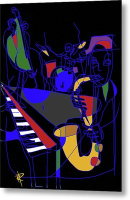 Jazz Quartet Metal Print by Russell Pierce