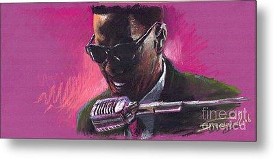 Jazz. Ray Charles.1. Metal Print by Yuriy  Shevchuk