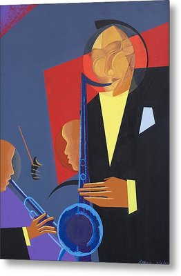 Jazz Sharp Metal Print by Kaaria Mucherera