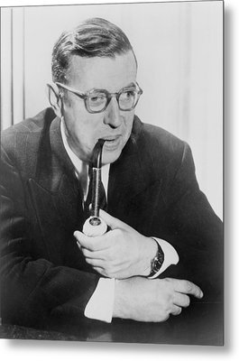 Jean-paul Sartre 1905-1980, French Metal Print by Everett