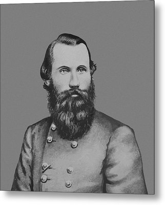 Jeb Stuart -- Confederate General Metal Print by War Is Hell Store