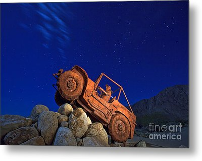 Jeep Adventures Under The Night Sky In Borrego Springs Metal Print by Sam Antonio Photography