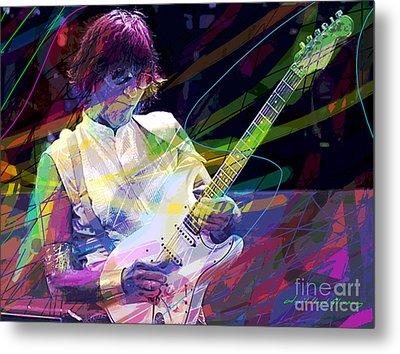 Jeff Beck Bolero Metal Print by David Lloyd Glover