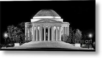 Jefferson Memorial Lonely Night Metal Print by Olivier Le Queinec