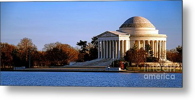 Jefferson Memorial Sunset Metal Print by Olivier Le Queinec