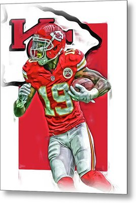 Jeremy Maclin Kansas City Chiefs Oil Art Metal Print by Joe Hamilton