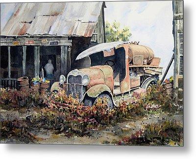 Jeromes Tank Truck Metal Print by Sam Sidders