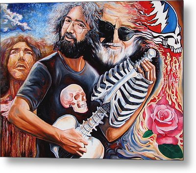 Jerry Garcia And The Grateful Dead Metal Print by Darwin Leon