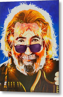 Jerry Garcia-dark Star Metal Print by Joshua Morton