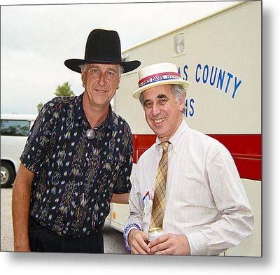 Jerry Jeff Walker And S. David Freeman Metal Print by Marilyn Hunt