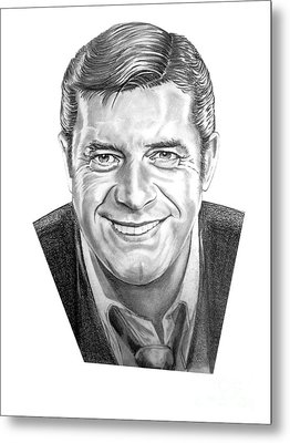 Jerry Lewis Metal Print by Murphy Elliott