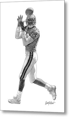 Jerry Rice Metal Print by Harry West