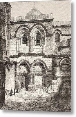 Jerusalem, Palestine. Church Of The Metal Print by Vintage Design Pics