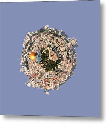 Jerusalem-small Planet Metal Print by Galina Gutarin
