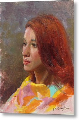 Jessica Portrait Demo Metal Print by Anna Rose Bain