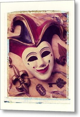 Jester Mask Metal Print by Garry Gay
