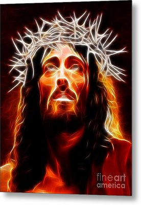 Jesus Christ Our Savior Metal Print by Pamela Johnson