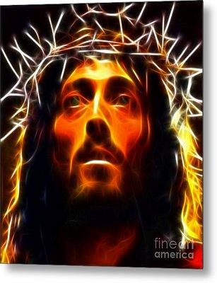 Jesus Christ The Savior Metal Print by Pamela Johnson