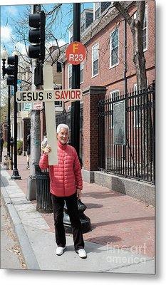 Jesus Is Savior Metal Print by Edward Fielding