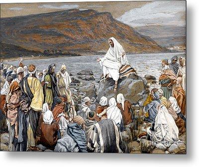 Jesus Preaching Metal Print by Tissot