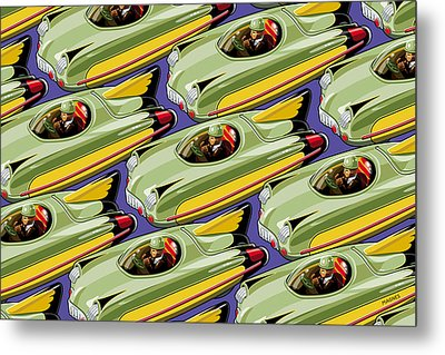 Jet Racer Rush Hour Metal Print by Ron Magnes