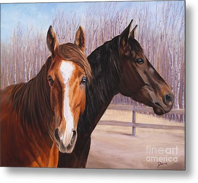 Jewels And Hollyberry Metal Print by Danielle Smith
