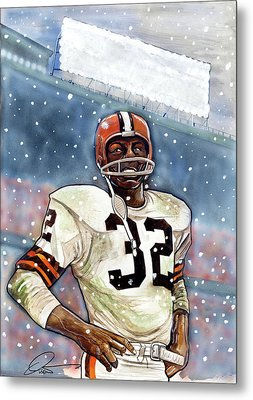 Jim Brown Metal Print by Dave Olsen