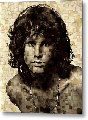 Jim Morrison Cubism Metal Print by Dan Sproul
