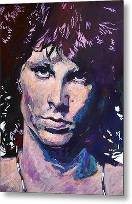 Jim Morrison The Lizard King Metal Print by David Lloyd Glover