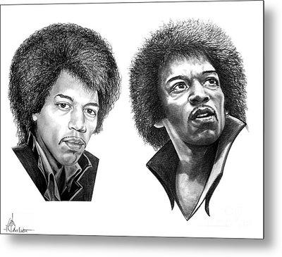 Jimi Hendrix Metal Print by Murphy Elliott