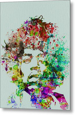 Jimmy Hendrix Watercolor Metal Print by Naxart Studio