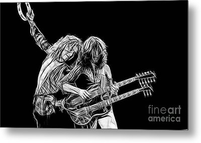 Jimmy Page And Robert Plant Collection Metal Print by Marvin Blaine