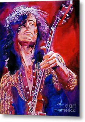 Jimmy Page Metal Print by David Lloyd Glover