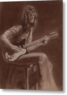 Jimmy Page Metal Print by Kathleen Kelly Thompson