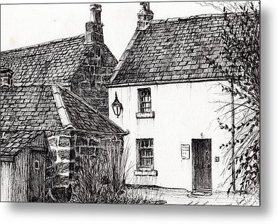 Jm Barrie's Birthplace Metal Print by Vincent Alexander Booth