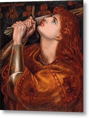 Joan Of Arc Metal Print by Dante Gabriel Rossetti