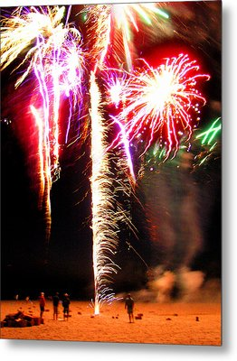 Joe's Fireworks Party 1 Metal Print by Charles Harden