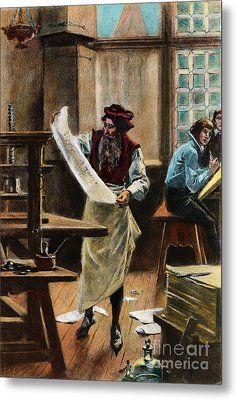 Johann Gutenberg Metal Print by Granger