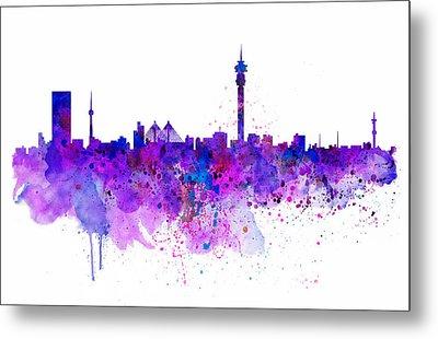 Johannesburg Skyline Metal Print by Marian Voicu