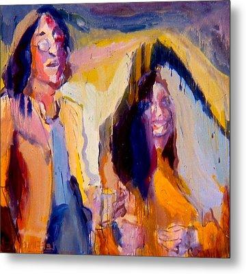John And Yoko Metal Print by Les Leffingwell