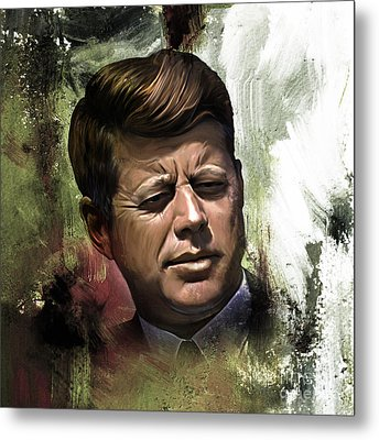 John F. Kennedy 01 Metal Print by Gull G
