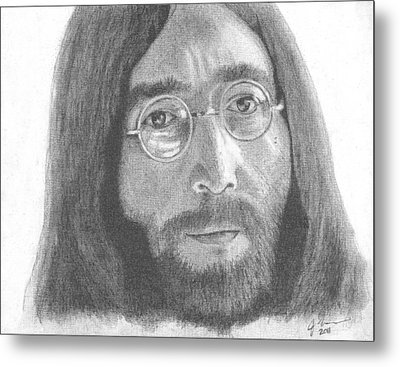 John Lennon Metal Print by Jeff Ridlen