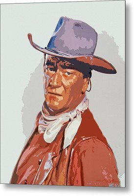 John Wayne - The Duke Metal Print by David Lloyd Glover