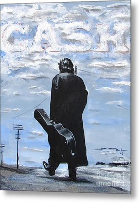Johnny Cash - Going To Jackson Metal Print by Eric Dee