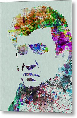 Johnny Cash Watercolor 2 Metal Print by Naxart Studio