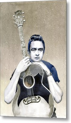 Johnny Cash Metal Print by Yuriy  Shevchuk