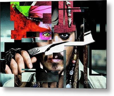 Johnny Depp - Collage  Metal Print by Prar Kulasekara