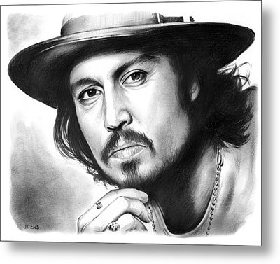 Johnny Depp Metal Print by Greg Joens