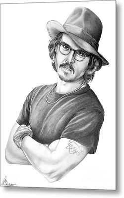 Johnny Depp Metal Print by Murphy Elliott